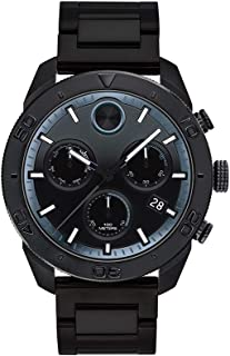 Men's BOLD Sport Chronograph Black PVD Watch with a Printed Index Dial, Black (Model 3600514)