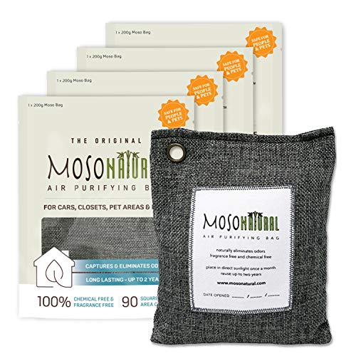 MOSO NATURAL Air Purifying Bag 4 Pack