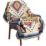 WarmTide Indian Soft Southwestern Throw Blankets with Tassels Cozy Cotton Woven Aztec Knitted Bed Couch Throws Sofa Chair Towel Multi-Function for Home Decor Office Travel