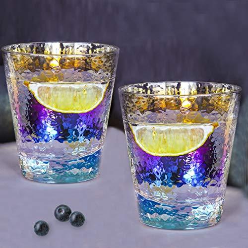 Vasos Cristal Agua Modernos Juego de 2, Utensilios Cocina para Sidra Whisky...