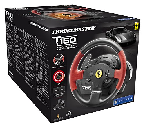 Thrustmaster T150 Ferrari Force Feedback Wheel (PS4/PS3/PC DVD) - [Edizione: Regno Unito]