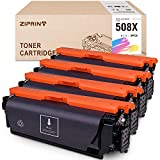 ZIPRINT Compatible Toner Cartridge Replacement for HP 508X 508A 508 CF360X use for Color Laserjet Enterprise M553 M553n M553dn M553x M552dn M577f M577dn M577z (Black Cyan Yellow Magenta, 4-Pack)