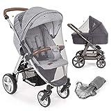 Mosquitera/Red antiinsectos universal capazo y silla de paseo | Protección contra picaduras, goma elástica, resistente, lavable, bolsa | gris