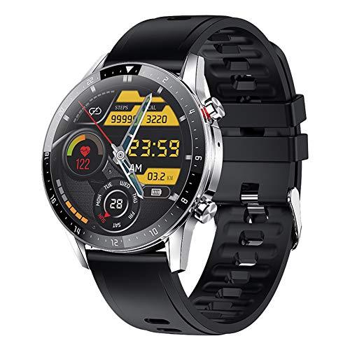 Reloj Inteligente con Monitor de frecuencia cardíaca Reloj de Pulsera Android con Reproductor de música, rastreadores de Actividad física con Monitor de sueño Contador de Pasos para Unisex (Silver)