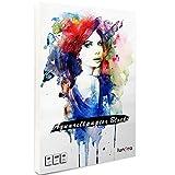 lunera premium Aquarellpapier 300g DIN A4 mit 45 Blatt naturweiß, kaltgepresst & geleimt, Watercolor Paper Pad I Aquarellblock für Aquarell, Zeichnen, Malen und Lettering