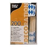 PAPSTAR 16636 200 Deko-Picker 8 cm Flaggen weiß/blau