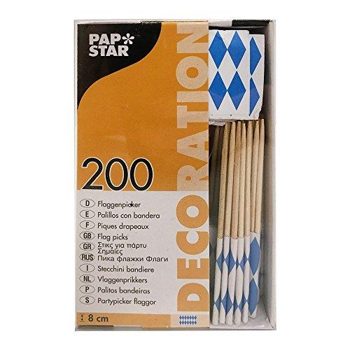 16636 - PAPSTAR - 200 Deko-Picker 8 cm
