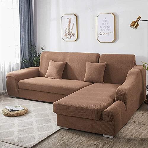 ADIS Funda de sofá gruesa de color sólido, antideslizante, a prueba de polvo, 1 2 3 4 plazas, 90 – 140 cm