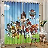 DONEECKL Cortinas deslizantes para decoración de patio, diseño de Patrulla Canina de la Patrulla Canina Cortinas de Dormitorio Decoración de 163 x 163 cm con ojales