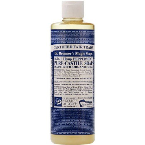 (12 PACK) - Dr Bronner - Peppermint Castile Liquid Soap | 946ml | 12 PACK BUNDLE