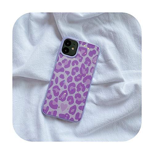 Phonecase - Carcasa para iPhone 12 11 Pro Max X XR XS Max 7 8 Plus se 2020, diseño de leopardo