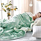 6-Layer Cotton Gauze Covered with core Gauze Cover Blanket 100% Cotton, Light and Breathable Double-Sided(Queen 87 '* 87')
