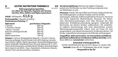 Scitec Nutrition Ignix Thermo-X 100 Kapseln, 1er Pack (1 x 123 g) - 3