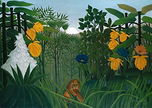 The Repast of the Lion Poster Print by Henri Rousseau (10 x 14) (Henri Rousseau The Repast Of The Lion)