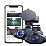 Nexar Pro Dual Dash Cam for Uber & Lyft Drivers | 128 GB | Road & Interior Recording | WiFi | SD Card and Unlimited Cloud Storage