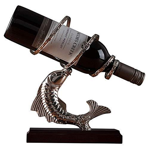 Vinteen Europäischen Stil Jahr Haben Fisch Weinregal Put Stück Kreative Traube Weinflasche Frame Home Wohnzimmer Weinkühler TV Schrank Dekoration Weinregal Halter