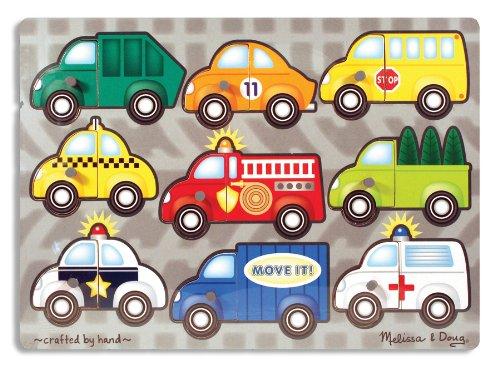 Image of the Melissa & Doug Vehicles Mix N Match Peg Puzzle