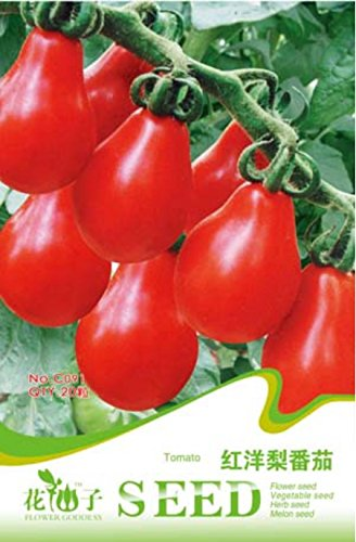 1 paquets originaux, 20 graines / paquet, Red Pear Tomate cerise, comestibles bio Tomates # C091