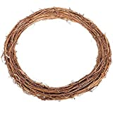 Homeofying Christmas Natural Dried Rattan Ring Wreath Garland Home Door Wall DIY Xmas Decor 30cm