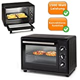 Piccolo forno con teglia da forno + griglia + briciole raccogligocce productsave, 35 litri capacità, 1500 Watt di potenza