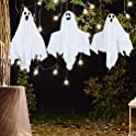 Set of 3 Halloween Decor Shining Ghost Hanging House Prop Decoration