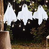 HOLLO STAR Halloween Decor Shining Ghost, Set of 3, Hanging House Prop Decorations, Trick or Treating, Indoor/Outdoor Halloween Props for Yard Home Parties