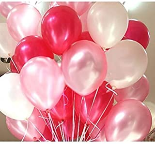 OSG Crafters Party Metallic Balloon HD Combo of 3 Colors - Red, White & Pink (Pack of 51)