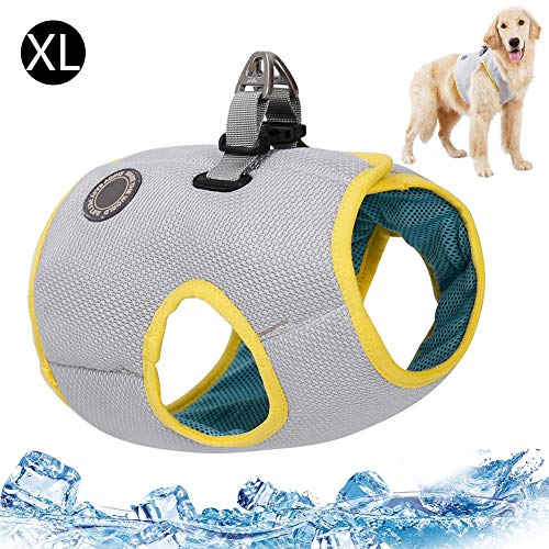 Dog Cooling Vest, Dog Cooling Harness Outdoor Puppy Cooler Jacket, Safety Reflective Vest For Large Dogs Walking Outdoor Hunting Training Camping Coat, Best For Small Medium Large Dogs (S/M/L/XL/2XL)