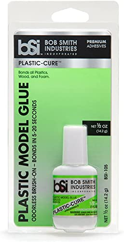 wholesale Bob Smith popular Industries BSI-105 Plastic-Cure Brush-On Odorless Foam Safe Super online sale Glue, 1/2 oz, Clear online