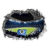 Hamburger SV Wandtattoo 3D für Tapete | Sport Fanartikel