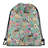 akingstore Border Terrier - Mochila de Tela con cordón para Perro, diseño...