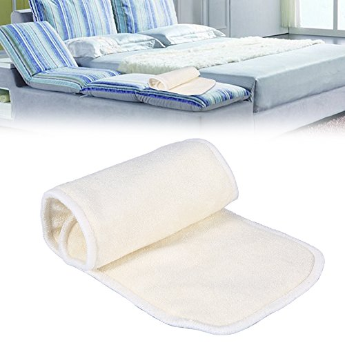 2 Pcs Stoffwindel Saugeinlagen, 4 Schichten Bambusfaser Adult Inkontinenz Tuch Windel Liner Windel Insert