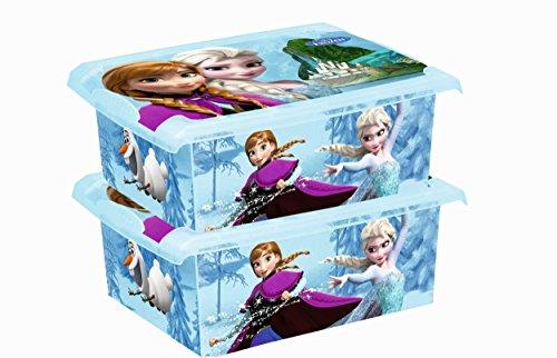2 x boîte à jouets jouet Boîte Fashion Box Frozen 10 L