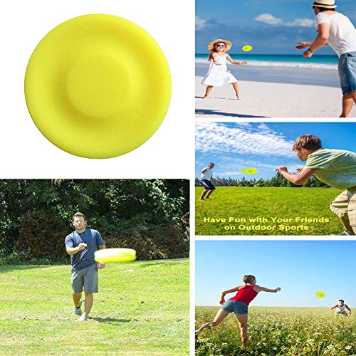XUNKE Mini Flying Disc de Vuelo Portátiles Flexible Silicona Ultimate Discos,Spin In Catching Game Flying Disc, Al Aire Libre para Niños Playa Juego De Mascotas Fitness Juguetes