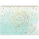 Eono by Amazon - 2021 Wall Calendar, 13 Month Family Planner Calendar from Jan' 2021 to Jan' 2022, Family School Monthly Planner from January 2021 to December 2021, Back Pocket, 37.3 cm x 29 cm