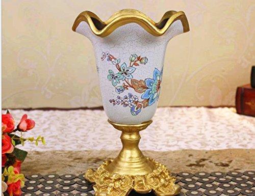 XUQIANG Inicio jarrón decoración de Resina Artesanal de Escritorio de Escritorio de Regalo de Escritorio simulación de Flores de inserción Artesanía