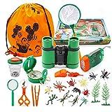 Kit Explorateur extérieur, 25pcs Jumelles Enfant Jouet Set, Faire Semblant de Jouer des Jouets pour l'exploration binoculaire de l'aventurier Kit de Jouets Amusants pour Le Camping et la randonnée