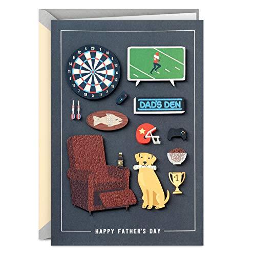 Hallmark Cartão de Dia dos Pais ou Cartão de Aniversário (Man Cave)