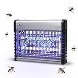 Gardigo Professionale con Luce UV Contro zanzare, Mosche, Senza Prodotti chimici per Ufficio e Cucina, Argento/Nero