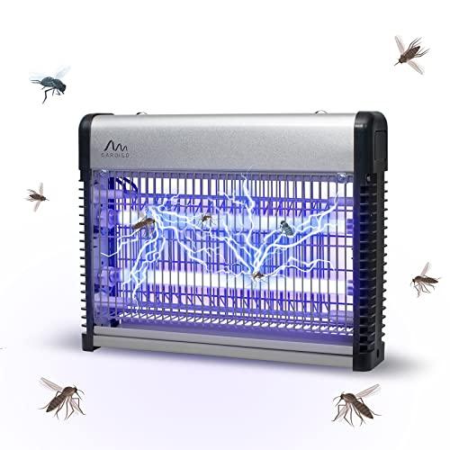 Gardigo Insektenvernichter 70m² I UV Mückenlampe Insektenfalle elektrisch gegen Mücken, Motten, Fliegen I Fliegenfalle zum Aufhängen inkl. Kette