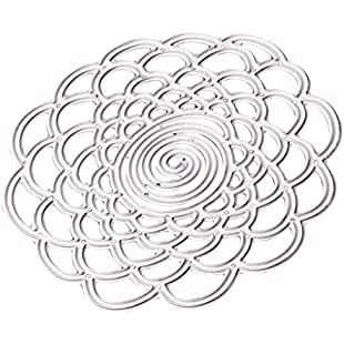 non-brand MagiDeal Lace Flower Background Metal Cutting Dies Stencil for DIY Scrapbooking Photo Album Decoration Embossing Paper Cards Decorative Crafts Die Cuts Handmade Gifts Dies, 7.8cm