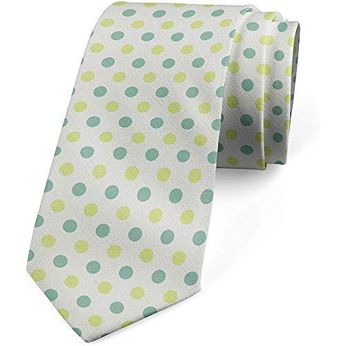 Cravatta, tondi bicolore di arte geometrica, verde avocado di cocco