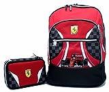 Promo Scuola Zaino Organizzato + Astuccio 3 Zip Ferrari Kids