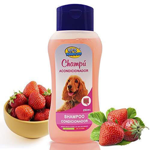 BPS Champú Acondicionador para Perro 250ml Shampoo Animales Domésticos Seguro y Natural Diseño para Todo Tipo de Razas BPS-4281