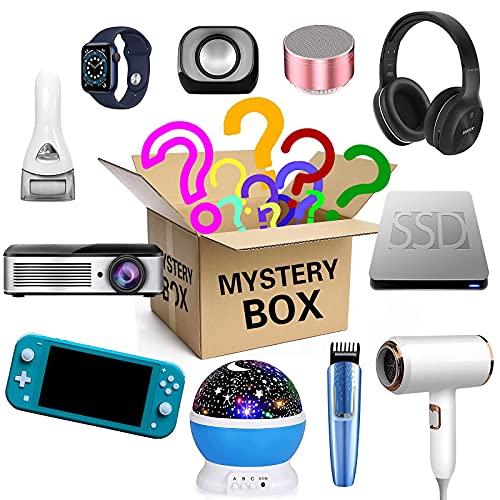 Mystery Boxes Slumpmässig, Födelsedagsöverraskningslåda, Lucky Box för vuxna Överraskningsgåva, Det finns en chans att öppna: Såsom Bluetooth-hörlurar, Gamepads och mer