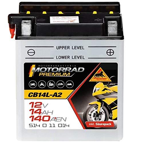 Preisvergleich Produktbild Panther Motorradbatterie 12V 14Ah 51411 YB14L-A2