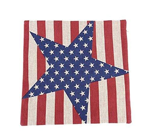AntonioKe75 - Funda de almohada con diseño de bandera estadounidense de las estrellas y las rayas, funda de almohada (gran estrella), fundas de cojín para sofá cama de 22 x 22 pulgadas, decoración del hogar
