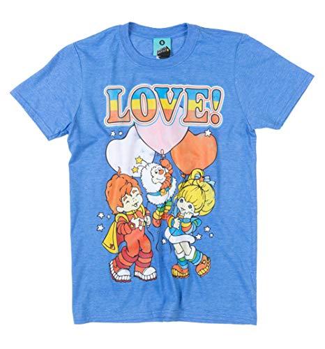 Adults Rainbow Brite Love Blue T Shirt - S to XXL
