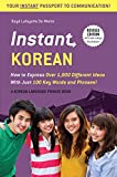 Instant Korean Different Phrasebook Dictionary