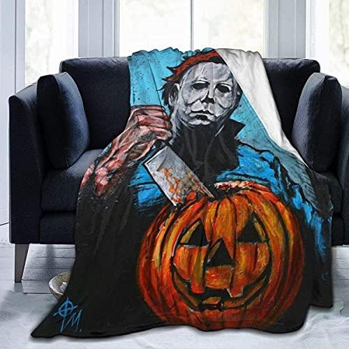 Michael Myers - Mantas de forro polar de franela ultra suave, elegantes para todas las estaciones del dormitorio, sala de estar, súper cálido, microterciopelo para adultos